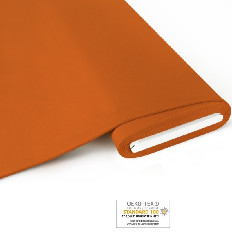 Bio French Terry brushed uni - orange - Art-Nr. 1100-350