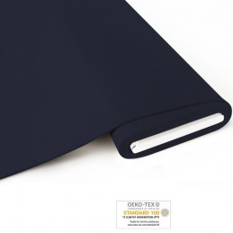 Bio French Terry brushed uni  - navy - Art-Nr. 1100-695