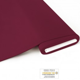 Bio French Terry uni - bordeaux - Art-Nr. 1200-410
