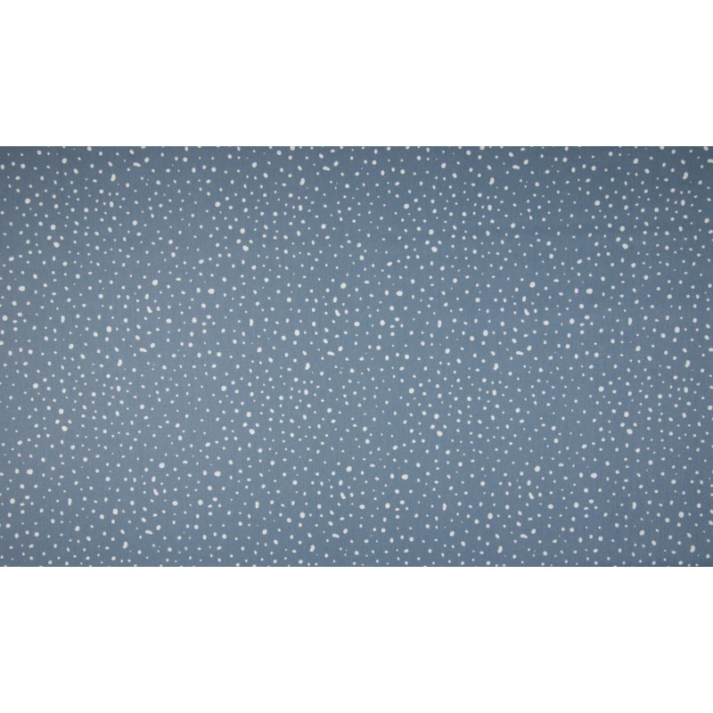 BIO POPELINE MUSTER - DOTS DUSTY BLUE - OR3501-003