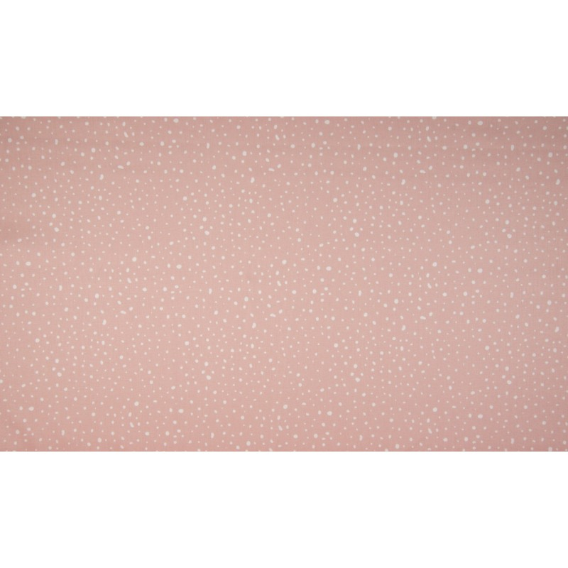 BIO POPELINE MUSTER - DOTS DUSTY PINK - OR3501-013