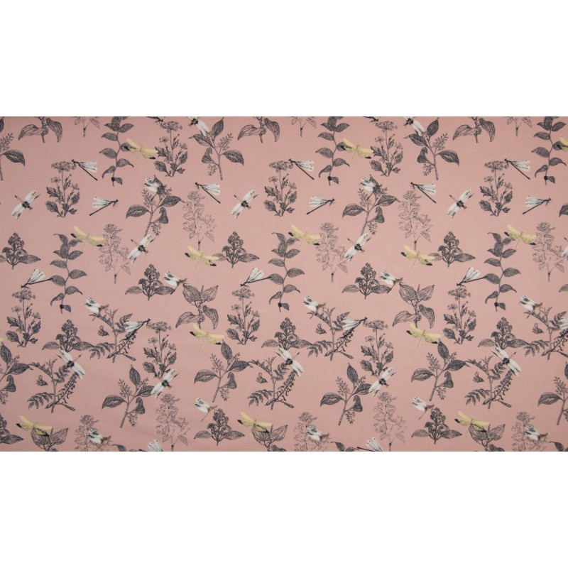 BIO POPELINE MUSTER - DRAGONFLY DUSTY PINK - OR3503-013