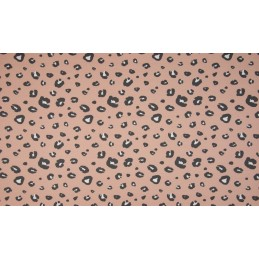 ORGANIC FRENCH TERRY - PANTHER DUSTY PINK - OR5503-213