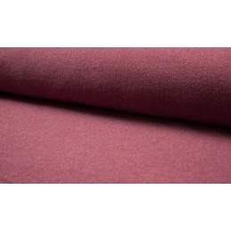 ORGANIC COTTON FLEECE - BORDEAUX MELANGE - OR8001-019