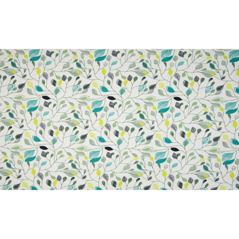 ORGANIC CO / EA JERSEY PRINT - LEAVES WHITE - OR4512-050