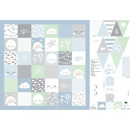 Swafing - Baby Set - Welcome little one by Lycklig Design, blau, 081292-100252